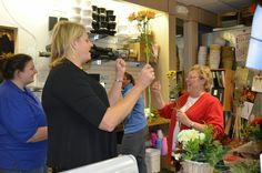 A Ladies Night Out of Floral Design | Sending Smiles ~ a fun night out learning about floral design and what's like to work in a flower shop. Our next class is November 12th.