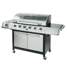 Char-Broil 6-Burner Propane Gas Grill with Side Burner and Sear Burner-463230513 at The Home Depot