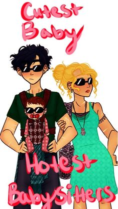 OF COURSE the first thing I draw from the TOA book is big brother Percy. Really, I wanted to draw something really sweet with Percy holding his little sister. But then I thought I wanted Annabeth in the picture. Then I thought what would happen if. Percy Jackson Fandom, Percy Jackson Head Canon, Percy Jackson Ships, Percy Jackson Fan Art, Percy Jackson Memes, Percy Jackson Books, Rick Riordan Series, Rick Riordan Books, Percabeth