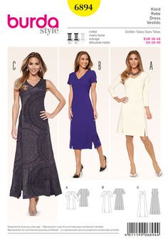 Burda Style Pattern 6894 Dresses- this would be very flattering