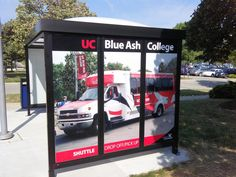By Worldwide Graphics & Sign Co:  Spruce up your bus shelter areas with Worldwide Graphics custom bus shelter graphics. Built to be inexpensive and durable, these graphics really and some visual attention to your area. #WorldwideGraphics