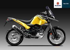 Design Corner - Suzuki SV 650 Raid Yellow Weapon Series by Oberdan Bezzi Motorcycle Rallies, Suzuki Motorcycle, Motorcycle Design, Bike Design, Ducati Pantah, Ducati Supersport, Yamaha Fz 09, Honda Cbr 600, Dr 650
