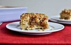eggnog breakfast crumble crunch cake - I always buy eggnog, drink a thimbleful then it sits in the back of the fridge for a month, this looks like a nice way to use it up