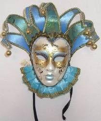 Italian Carnevale masks blue