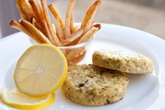 Tuna Cakes with Scallions and Lemons... a great blogger with an inspirational story on how she lost weight and her relationship with herself, then and now, and food