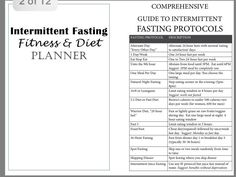 Intermittent fasting fitness planner, free printable