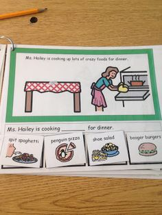 BBQ themed adapted Mad-Lib book.  FREE PRINTABLE of book and worksheets. www.autismtank.blogspot.com