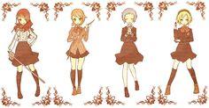 Persona 3 girls, Mitsus Kirijo, Fuuka Yamagishi, Aigis, Yukari Takeba