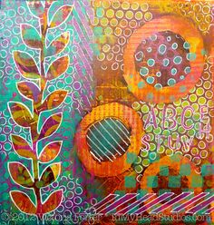 """Summer Evening"" Gelli Monoprint"