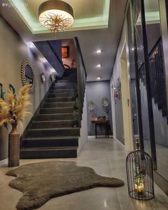 Luxury Homes Dream Houses, Coworking Space, Home Fashion, Detached House, Decoration, Terrace, Sweet Home, New Homes, Stairs