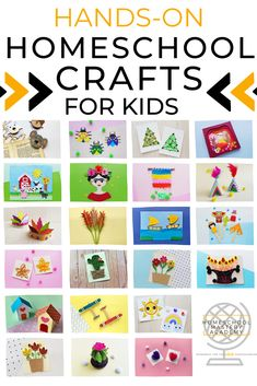 Hands On Crafts For Homeschool - No Mess! #craftsforkids #papercrafts #kidscrafts Stem Projects For Kids, Crafts For Kids, Fun Crafts, Weaving Projects, Craft Projects, Preschool Activities, Preschool Art, Custom Greeting Cards, Hands On Activities