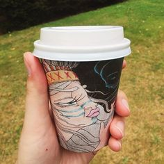14/03 Coffee in a cardboard cup #biocupartseries #project366