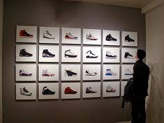 collection of painted sneakers
