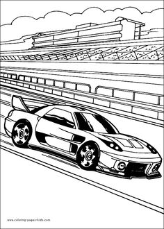 free hot wheels coloring pages