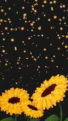 Illustrations Discover Wallpaper Brilho de Sol 1 by Gocase wallpaper papel de parede background fundo de tela cellphone celular sunflowers girassóis black preto yellow amarelo cute girly gocase lovegocase แบคกราวนไอโฟน พนหลงโทรศพท วอลเปเปอรโทรศพท Tumblr Wallpaper, Wallpaper Sky, Wallpaper Pastel, Sunflower Wallpaper, Flower Phone Wallpaper, Emoji Wallpaper, Iphone Background Wallpaper, Aesthetic Pastel Wallpaper, Cellphone Wallpaper