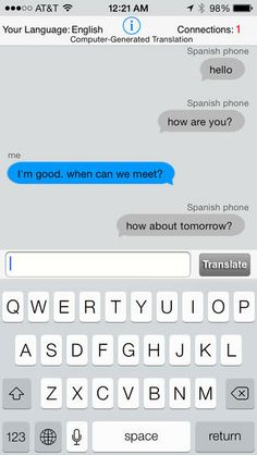 The OneTongue app can be used on your iPod touch, iPad, and iPhone to allow you to have a live conversation with someone in a different language thanks to the instant translations it provides.