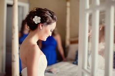 beautiful wedding hair.