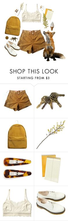"""whisper to a scream"" by asaturnia ❤ liked on Polyvore featuring Levi's Made & Crafted, Crate and Barrel, France Luxe, Ampad, Monki and Dr. Martens"