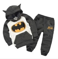 Online Shop 2013 New 100% cotton fashion winter batman hooded baby boy clothing sets kids casual clothes children outwear plus size|Aliexpress Mobile