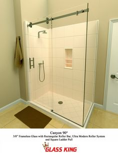 Curved glass shower door rollers glass doors pinterest shower king glass shower door roller planetlyrics Image collections