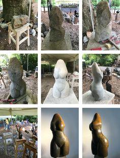 Zimba, Skulptur aus Serpentin Stein