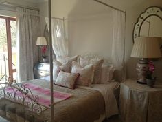 A romantic guest bedroom I decorated in 2014 Bedroom, Romantic, Interiors, Furniture, Kitchen, Home Decor, Cooking, Decoration Home, Romantic Things