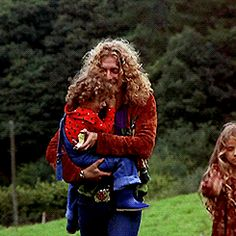 Super Seventies — Robert Plant with children, Carmen and Karac