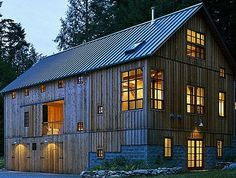 Converted barn. Soo if I had a barn like this, I'm pretty sure I would end up living in there!!