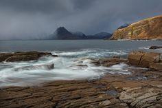 Elgol. Sgurr na Stri. Passing Storm. Isle of Skye. Scotland.