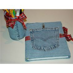 Repurposing a Denim Shirt as a Note Book Cover