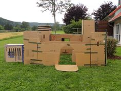 cardboard castle -- moving boxes and duct tape!