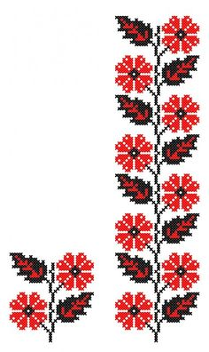 FL075 Wool Embroidery, Embroidery Patterns Free, Embroidery Needles, Sewing Patterns, Cross Stitch Borders, Cross Stitch Charts, Cross Stitching, Cross Stitch Patterns, Ancient Tattoo