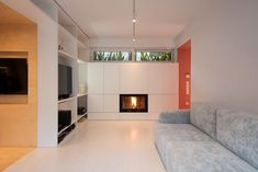 Image 4 of 10 from gallery of Apartment in Korydallos / Plaini and Karahalios Architects. Photograph by Nikos Papageorgiou Prefab Homes, Le Corbusier, Floor Plans, Flooring, Interior Design, Architecture, Gallery, Furniture, Home Decor