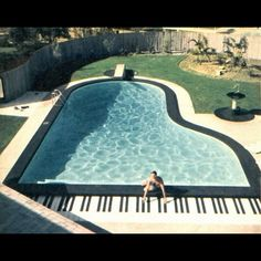 #piano -shaped #swimmingpool pretty neat. #pinterest #pool #swimming (Taken with Instagram)