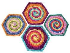 Ravelry: Granny Square Hexágono TwistySix - patrón de ganchillo, patrón de la foto tutorial de Paula Matos.  por CRISC