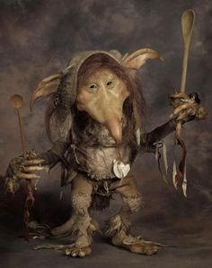 Spoon Holding Trolls: Chagford Film Festivals Sculpting Demonstration