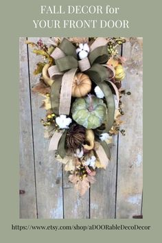 Decorate for fall with a beautiful teardrop / swag for your front door. The artificial fall leaves and the country pumpkins and gourds form a perfect farmhouse fall decor for your home. Happy fall! Fall Entryway Decor, Front Door Decor, Fall Decor, Door Wreaths, Grapevine Wreath, Gourds, Pumpkins, Mardi Gras Wreath, Fall Leaves