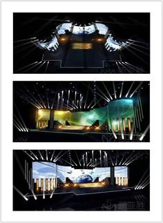 curve led screen for TV show