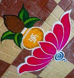 Simple Rangoli Border Designs, Easy Rangoli Designs Diwali, Rangoli Simple, Indian Rangoli Designs, Rangoli Designs Latest, Rangoli Designs Flower, Free Hand Rangoli Design, Rangoli Patterns, Small Rangoli Design