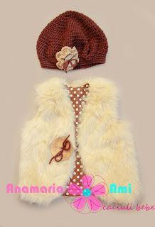 Vestuta blanita bej, bascuta asortat by Anamaria Ami Tutu, Winter Hats, Crochet Hats, Skirt, Dresses, Fashion, Atelier, Crocheted Hats, Moda