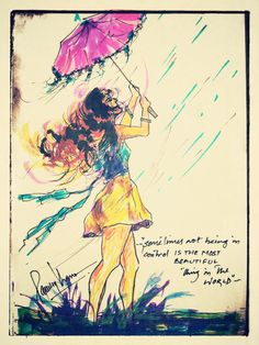 Somtimes not being in control is the most beautiful thing in the world #rain