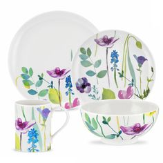 Stunning Portmeirion Water Garden 4 person 16pc dinner set by PortMeirion. Best quality at Tableking. - great prices - fast delivery