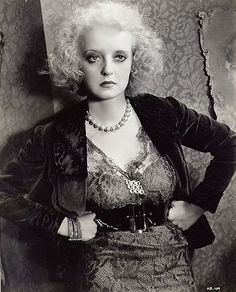 """Bette as the shrewish Mildred in """"Of Human Bondage"""" (1934)"""