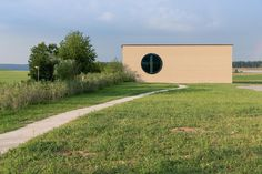 Ricola Center in Laufen by Herzog & de Meuron. Click above to see larger image. Architecture Events, Architecture Office, Contemporary Architecture, Building Systems, Building Materials, Basel, Martin Rauch, Wind And Rain, Rammed Earth