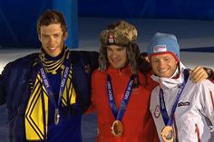 Podium in skiathlon 30 km, Sochi 2014. Hellner silver, Cologna gold and Sundby bronze..