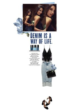 """""""Denim and Black"""" by vinograd24 ❤ liked on Polyvore featuring Bassike, AG Adriano Goldschmied, Fleur du Mal, Behance and Mark Cross"""