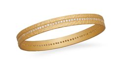 14K Gold Plated Sterling Silver Eternity Bangle