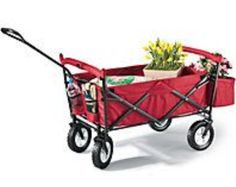 Foldable wagon I love this great for doing gardening or getting groceries from car to house, or camping or end of world.