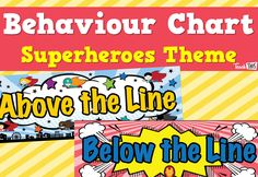 Behaviour Chart - Superheroes Theme