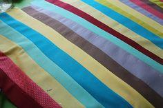 Rainbow Derecho Quilt in Progress